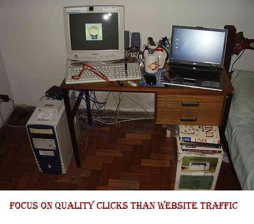 Focus On Quality Clicks Than Website Traffic