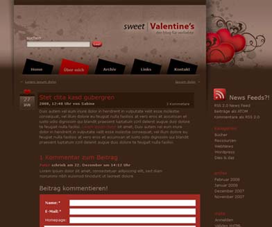 Sweet Valentine WordPress Theme