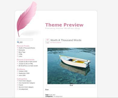 Tickled pink WordPress theme