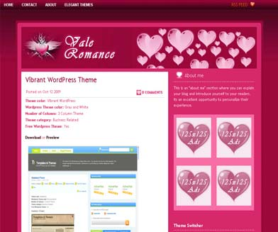 Vale Romance WordPress Theme