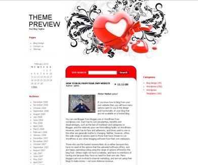 Valentine Heart WordPress Theme